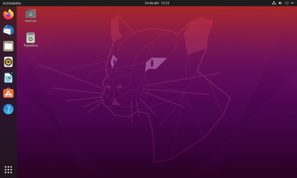 Nuevo ubuntu 20.05